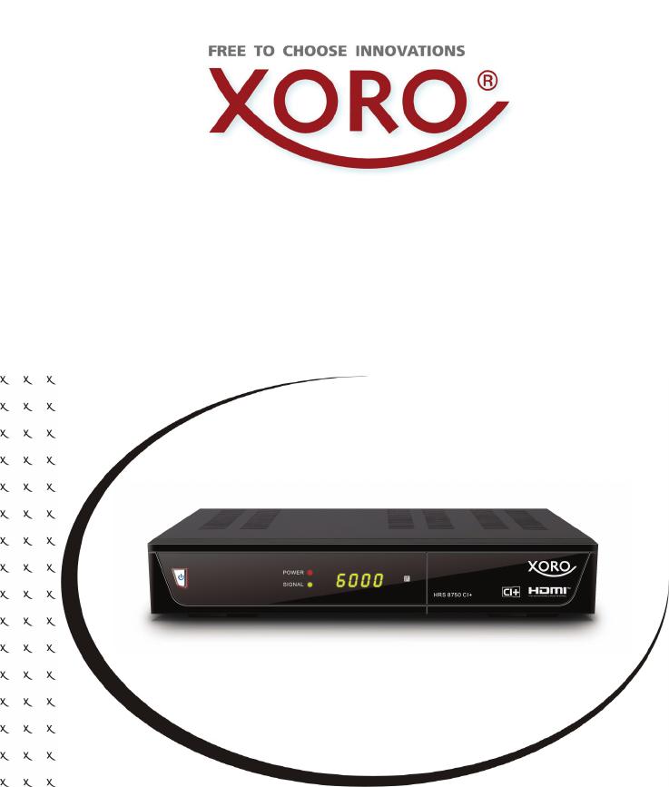 Bedienungsanleitung Xoro HRS 8750 CI+ (57 Seiten)