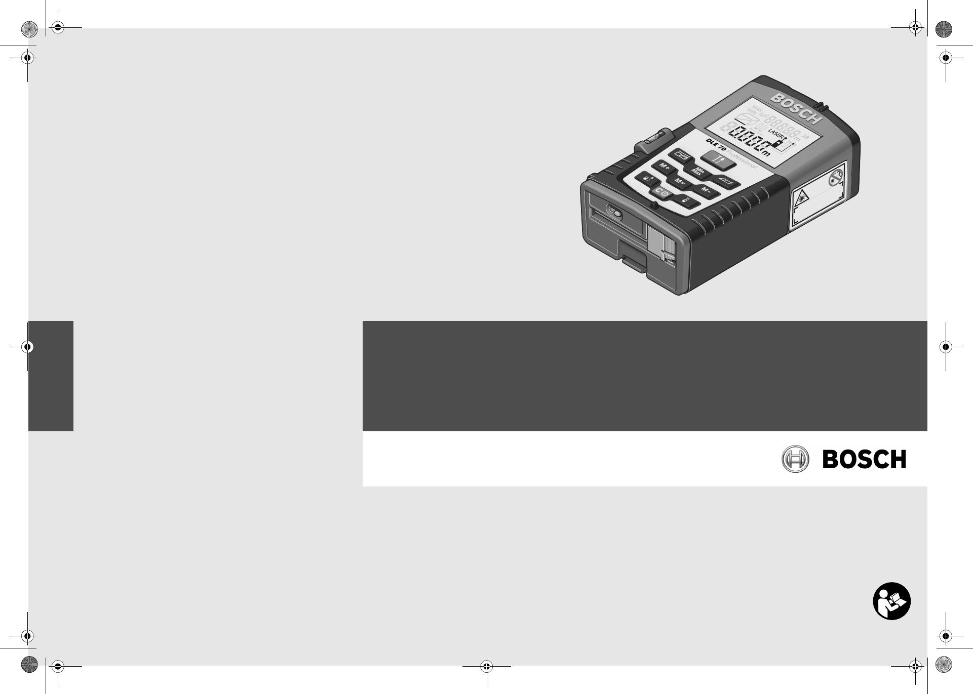 Bosch Entfernungsmesser Dle 70 : Bosch dle 70 bedienungsanleitung