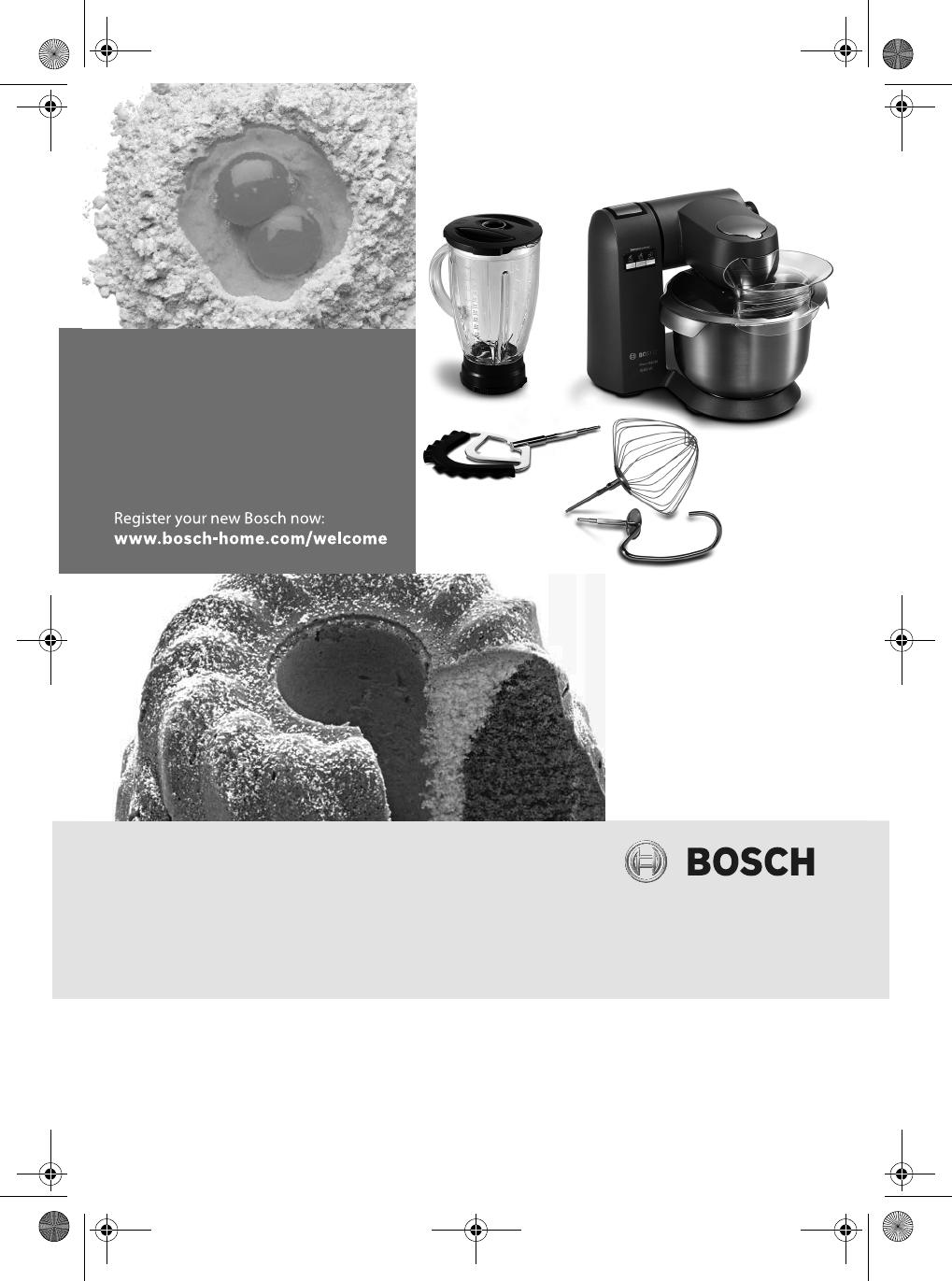 Bedienungsanleitung Bosch Mumx50gxde 58 Seiten