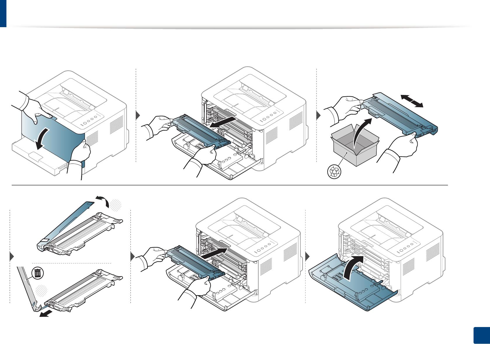 Ersetzen der Tonerkartusche - Samsung Xpress C43x anleitung