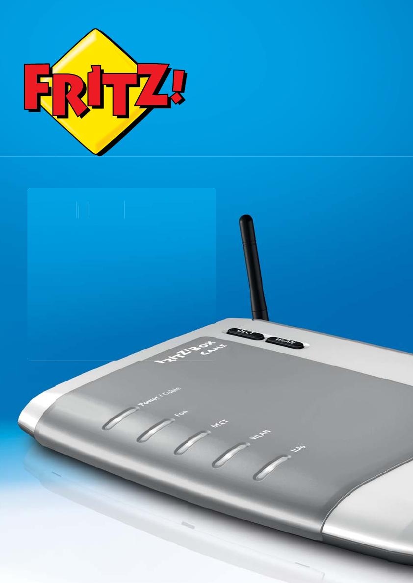 Bedienungsanleitung AVM FRITZBox 20 Cable Deutsch   20 Seiten