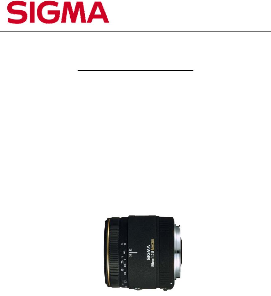 Sigma 50mm F 28 Ex Dg Macro Nikon Bedienungsanleitung Canon
