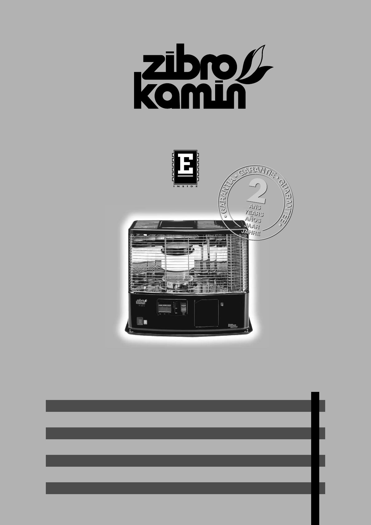 Ongebruikt 📖 Bedienungsanleitung Zibro Kamin R 140 E (16 Seiten) TZ-37