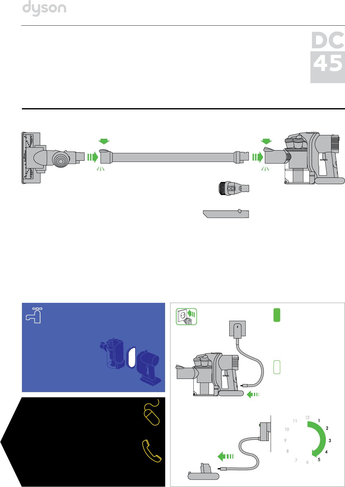 Дайсон дс 45 инструкция комплектующие dyson v6 animal pro