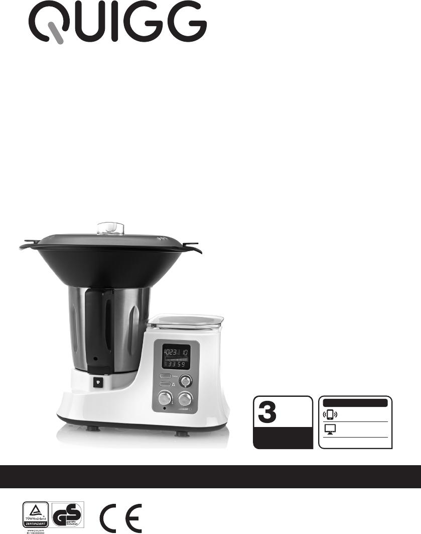 Quigg Küchenmaschine Bedienungsanleitung 2021