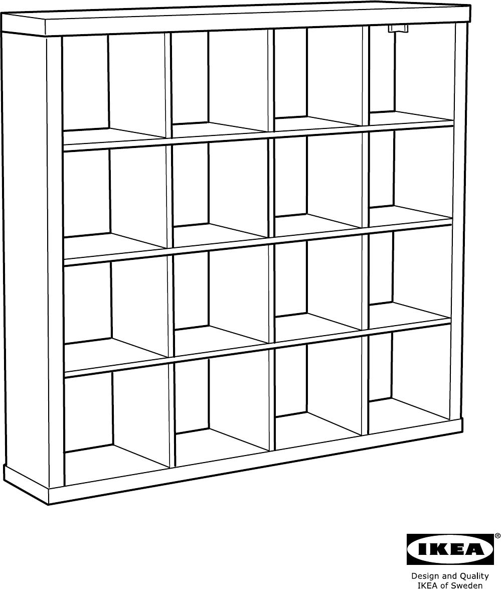 Bedienungsanleitung Ikea Kallax 24 Seiten