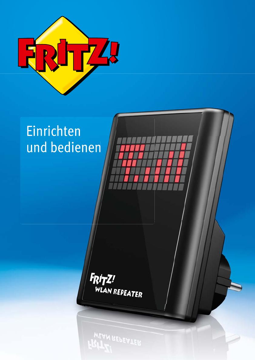 Bedienungsanleitung AVM Fritz Wlan Repeater Deutsch   20 Seiten